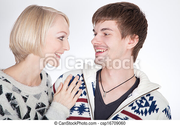 couple in love looking - csp16709060