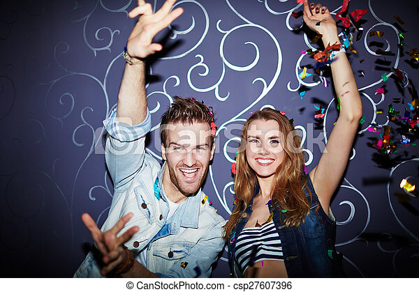 Couple in night club - csp27607396