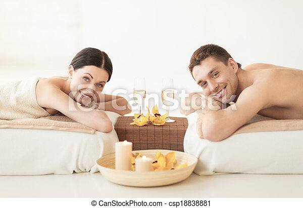 couple in spa - csp18838881