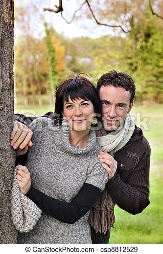 Couple in the countryside - csp8812529