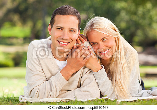 Couple in the park - csp5810467