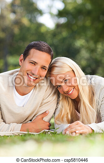 Couple in the park - csp5810446