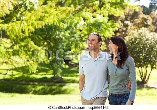 Couple in the park - csp5664165