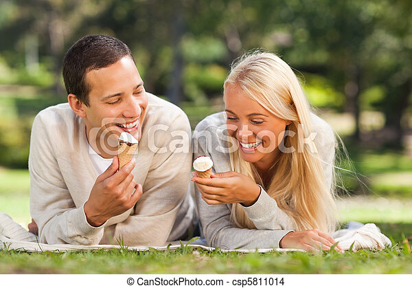 Couple in the park - csp5811014