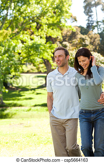 Couple in the park - csp5664163