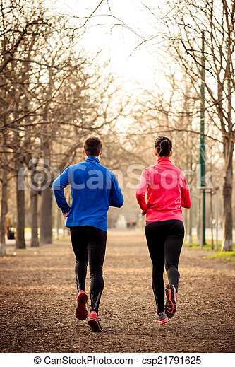 Couple jogging together - csp21791625
