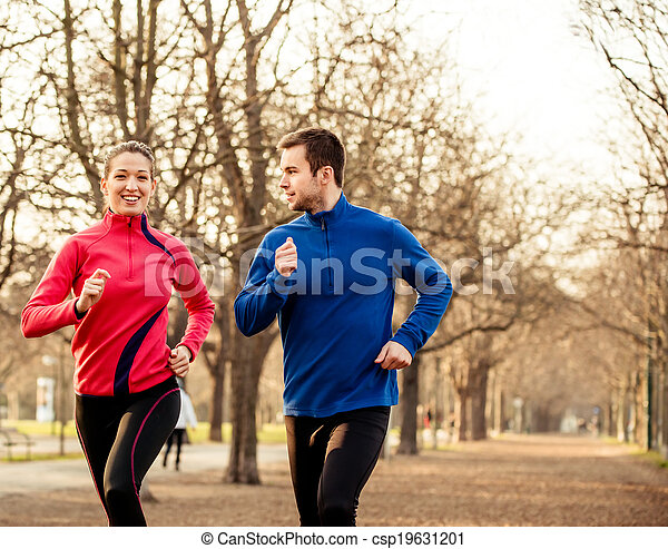 Couple jogging together - csp19631201