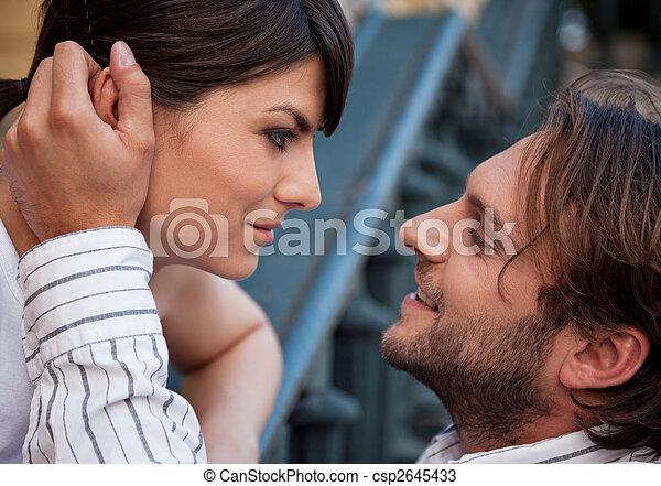 couple love touching - csp2645433