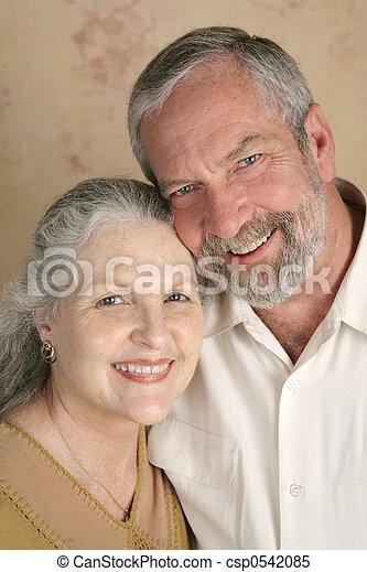 couple, mûrir, heureux - csp0542085
