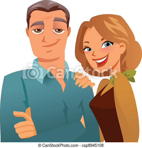 couple, mûrir - csp8945108
