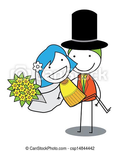 couple mariage vecteur eps rechercher des clip art illustrations rh canstockphoto fr clipart mariage clipart mariage noir et blanc
