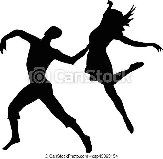 couple modern dancing - csp43093154