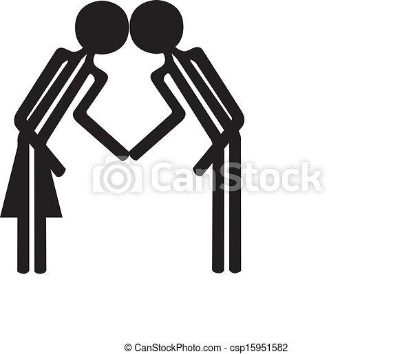 Couple Noir Blanc Dessin