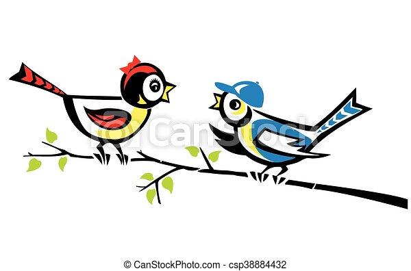 Couple of birds - csp38884432