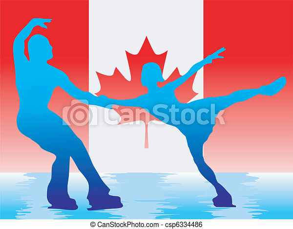 couple of figure skaters - csp6334486