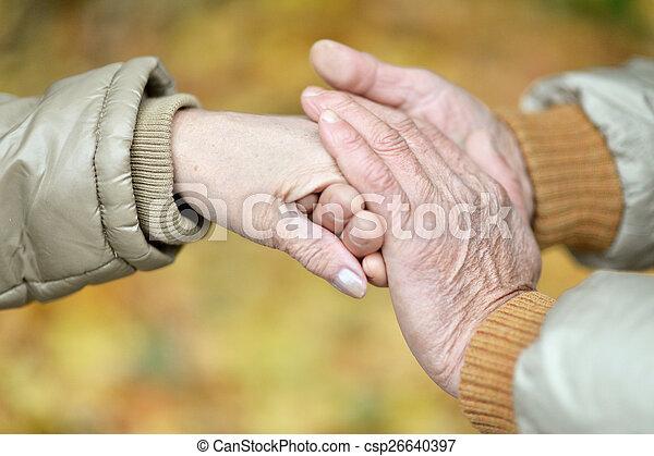 Couple of hands - csp26640397