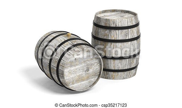 Couple of wine barrels  - csp35217123