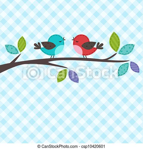couple, oiseaux - csp10420601