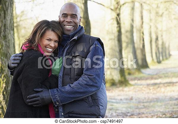 Couple On Autumn Walk - csp7491497