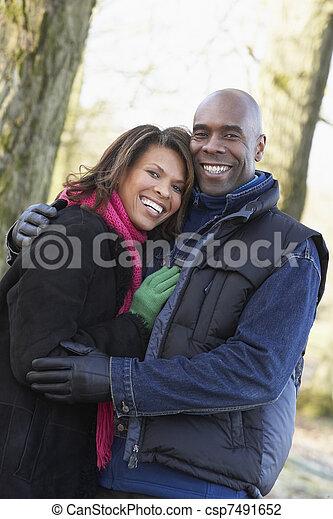 Couple On Autumn Walk - csp7491652