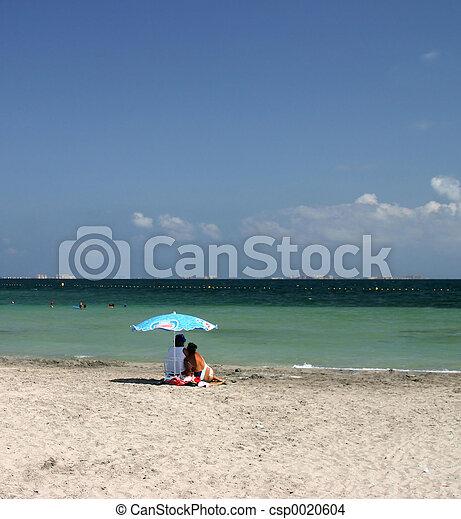 couple on beach - csp0020604