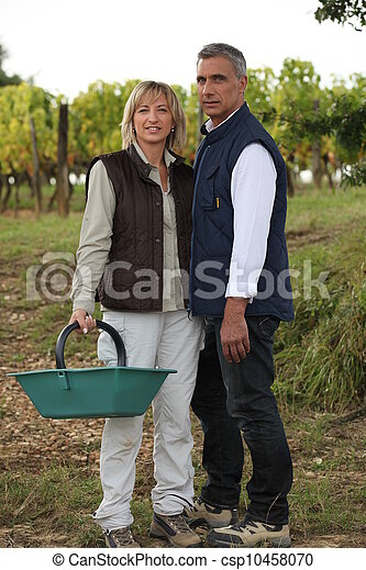 Couple on farm - csp10458070