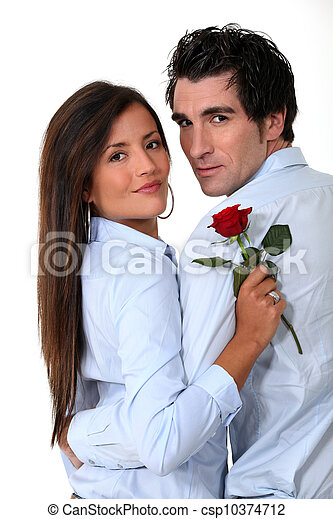Couple out on a romantic date - csp10374712
