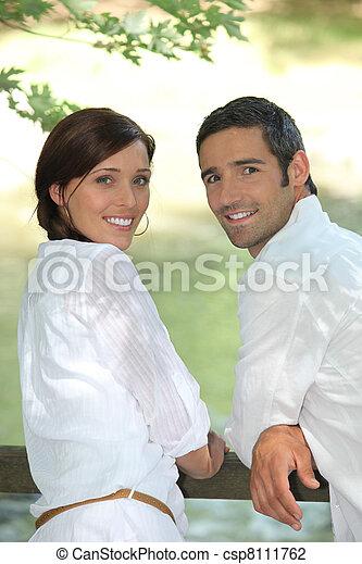Couple outside - csp8111762