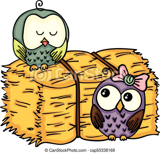 scalable vectorial image representing a couple owl with bale clip rh canstockphoto com happy clip art free hey clip art