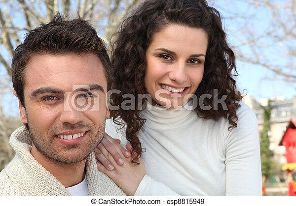 couple, parc - csp8815949