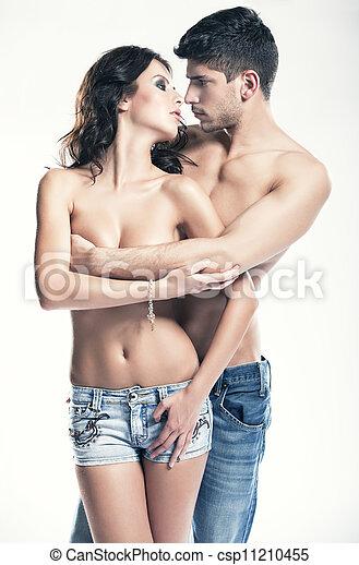 couple, passionné, hétérosexuel - csp11210455