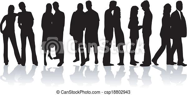 Couple people vector - csp18802943