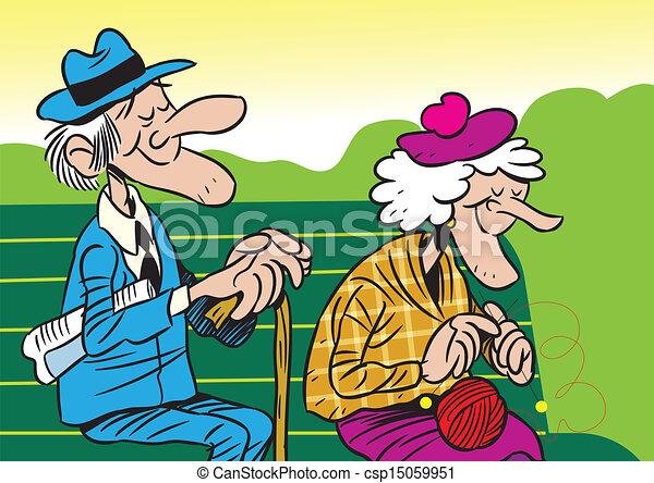 couple, personnes agées - csp15059951