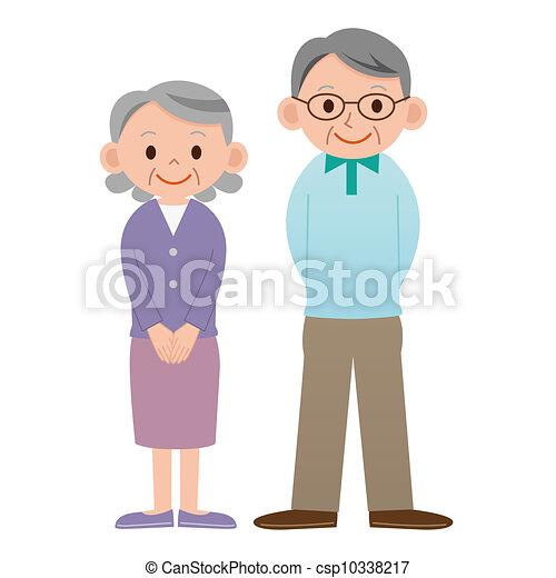 couple, personnes agées - csp10338217