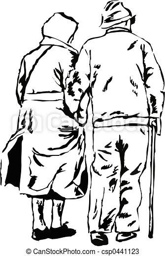 couple, personnes agées - csp0441123