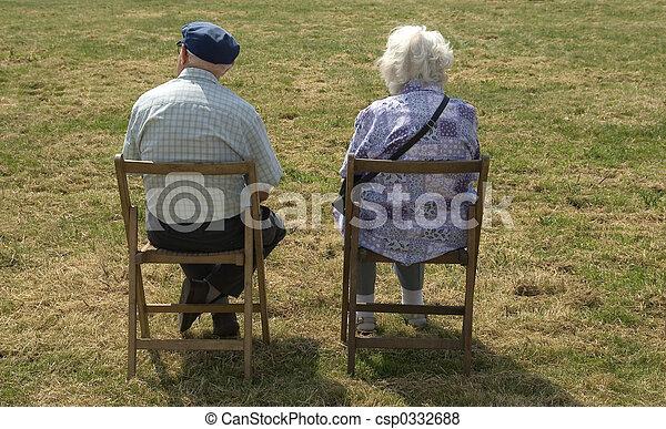 couple, personnes agées - csp0332688