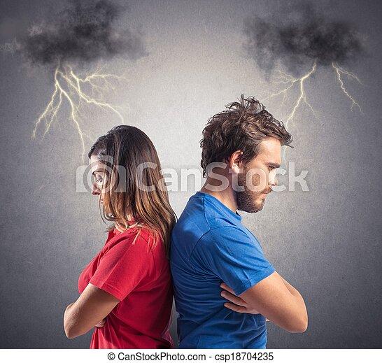 couple, problème - csp18704235
