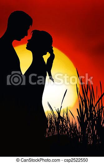 couple, romantique - csp2522550