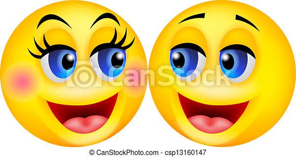 Couple smiley dessin anim heureux couple smiley illustration vecteur dessin anim heureux - Dessins de smiley ...