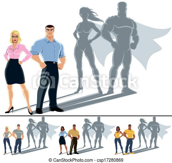 Couple Superhero Concept - csp17280869
