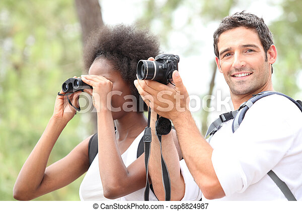 couple taking pictures - csp8824987