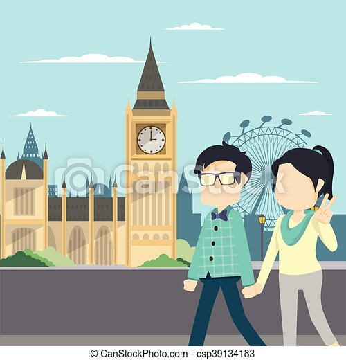 couple tour london - csp39134183