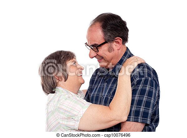 couple, vieilli, humeur, romantique - csp10076496
