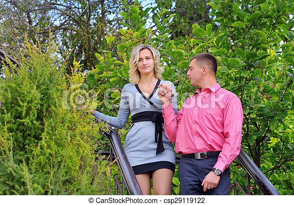couple walking in the park - csp29119122