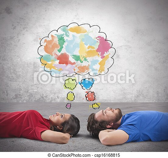 Couple who thinks - csp16168815