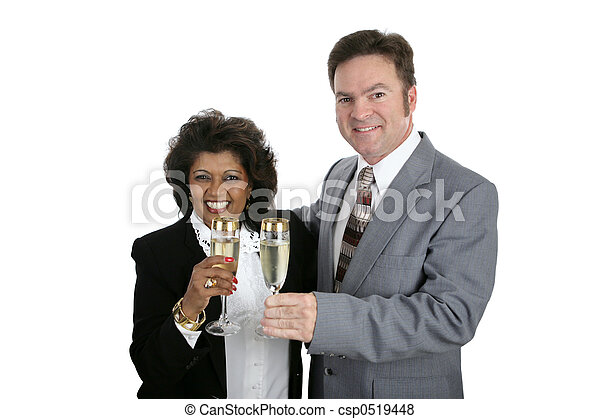 Couple with Champagne - csp0519448