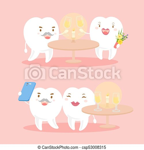 Couple With Valentine Day Couple Tooth With Valentine Day On The