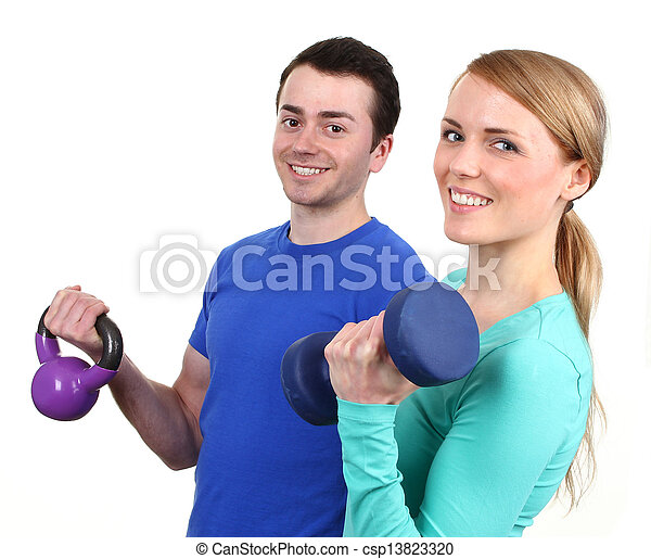 Couple working out - csp13823320