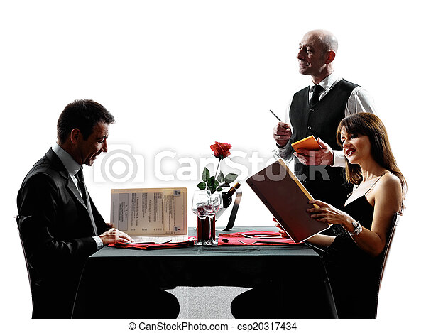 Couples Lovers Dating Dinner Silhouettes Couples Lovers Dinning In