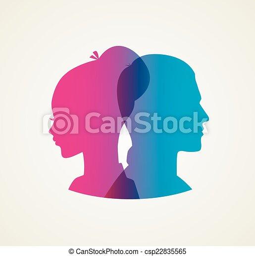 Couple's silhouette - csp22835565